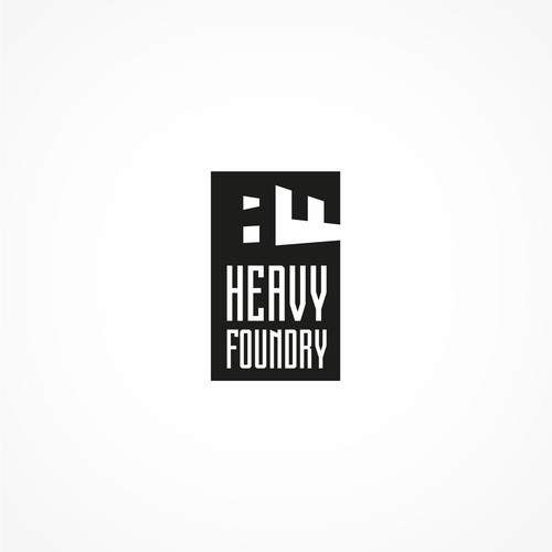 F logo with the title 'Heavy Foundry logo'