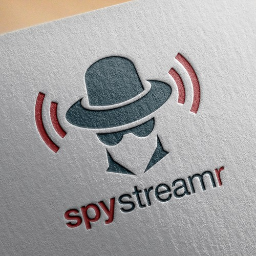 Single design with the title 'Logo concept for SpyStreamr'
