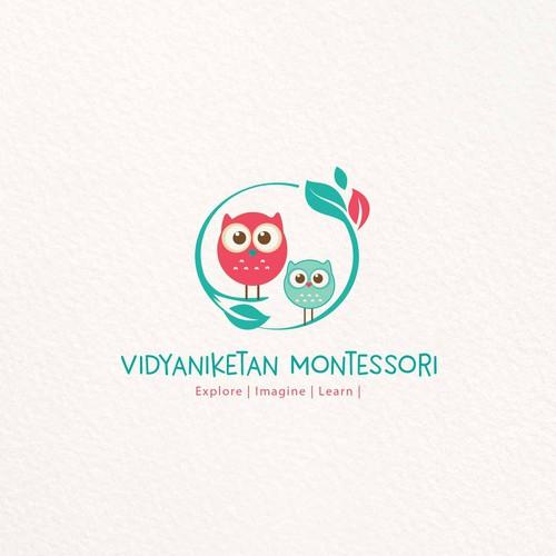 Preschool design with the title 'Vidyaniketan Montessori'
