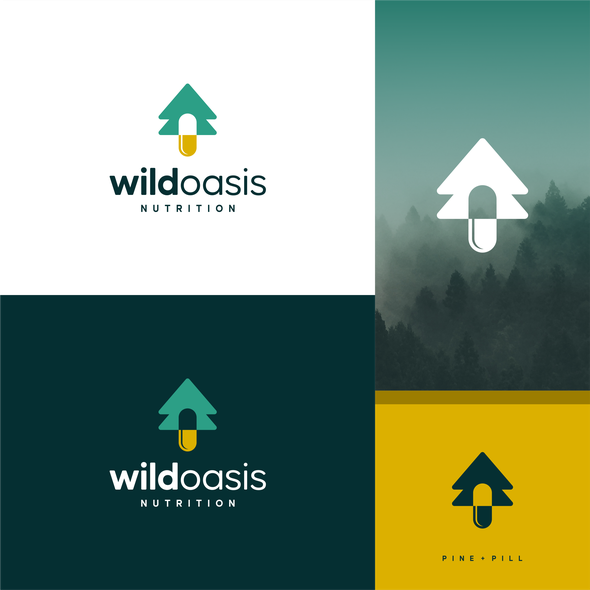 Wild design with the title 'pill + pine'