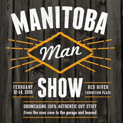 Gadget design with the title 'Manitoba Man Show poster'