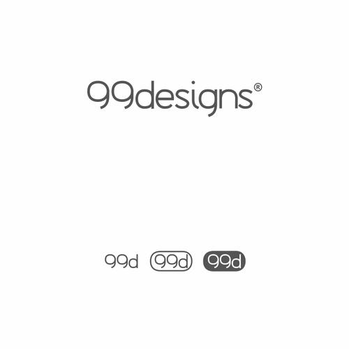 3D letter logo with the title 'Letter-mark designed for 99designs'