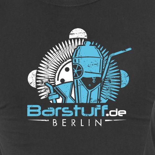 Bar t-shirt with the title 'T-Shirt BARSTUFF Online shop for bar equipment'