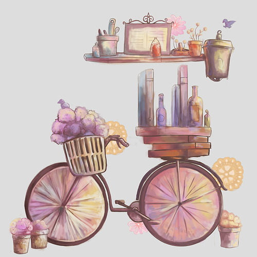 Decal design with the title 'Bakery Mural Art'