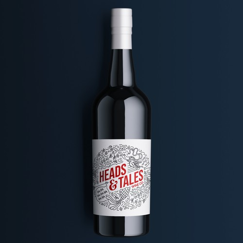 Unique label with the title 'Wine label'