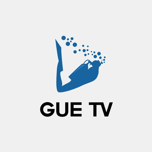 Underwater design with the title 'GUE TV'