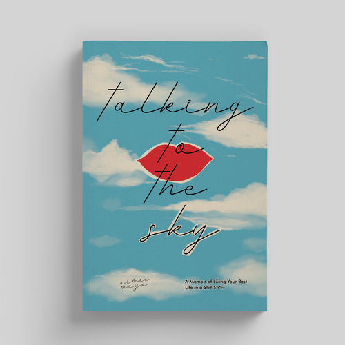Biography design with the title 'Talking to the Sky'