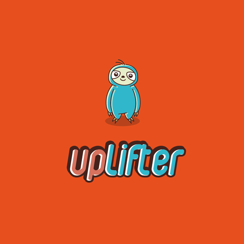 Friendly logo with the title 'Create a logo for happiness app Uplifter'