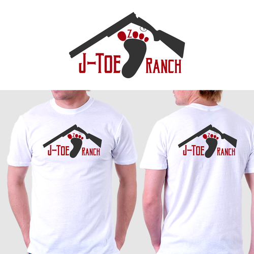 Footprint logo with the title 'J-Toe Ranch'