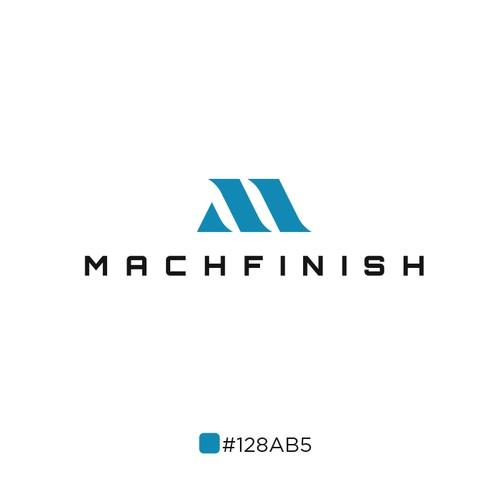 Aerospace design with the title 'Machfinish Logo'