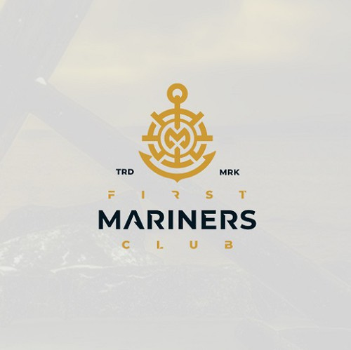Marine logo with the title 'MODERN SOPHISTICATED LOGO'