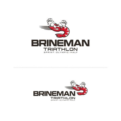 Triathlon design with the title 'Update Logo for Brineman Triathlon'
