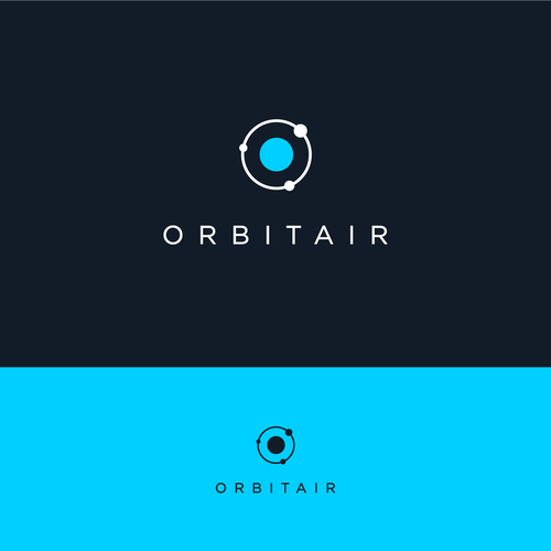 Planet logo with the title 'Minimalistic logo for Orbitair'
