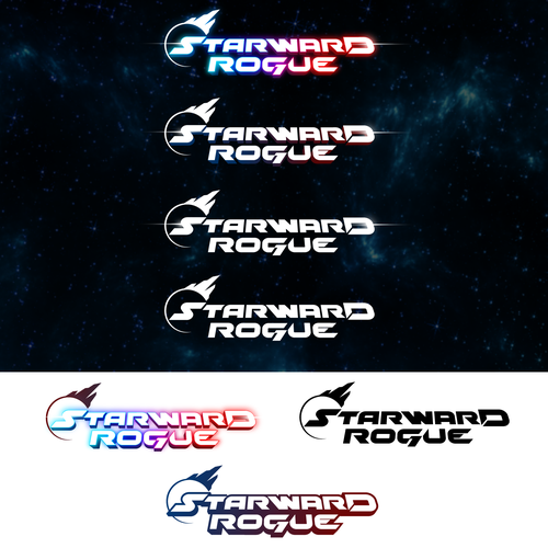 High-tech logo with the title 'Logo for Sci-fi video game'