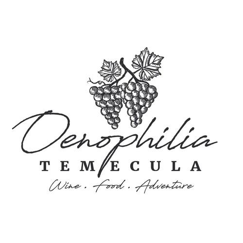 Cork logo with the title 'Oenophilia Temecula'