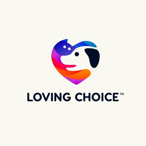 Dog, cat, and bird logo with the title 'Loving Choice'