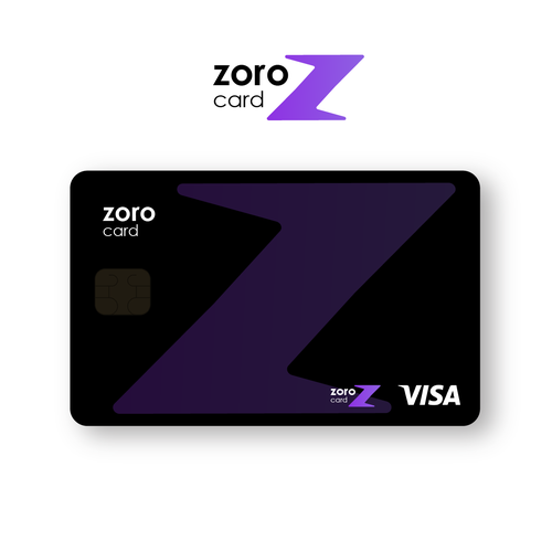 Credit card logo with the title 'Logo design'