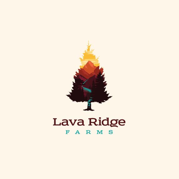 Marijuana design with the title 'Vector landscape logo design'