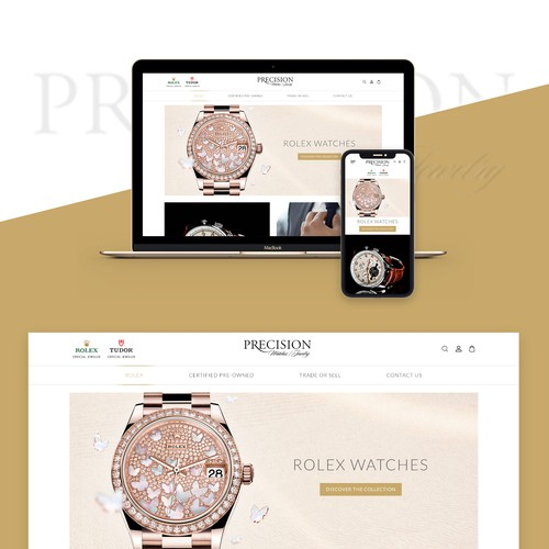 High-end website with the title 'Website Design for High End Luxury Watches'