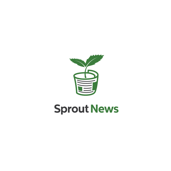 Bud logo with the title 'Sprout news'
