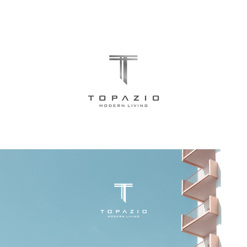 T logo with the title 'Modern Logo Concept For Topazio'