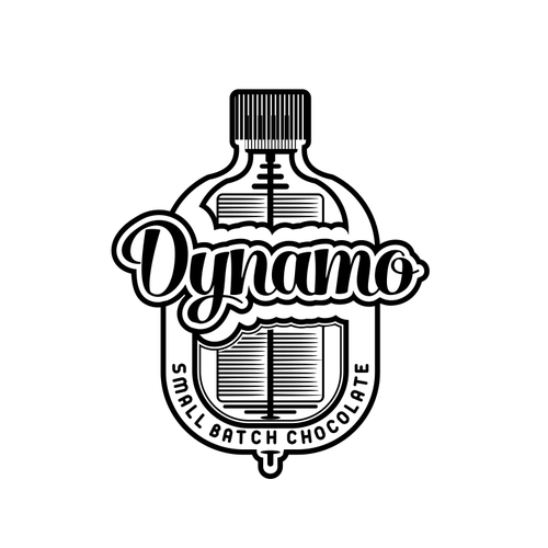 Mechanical logo with the title 'dynamo'