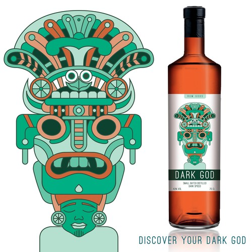 Character label with the title 'Rum label design entry'