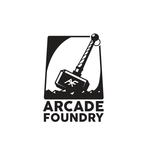 Pinball logo with the title 'ARCADE FOUNDRY'
