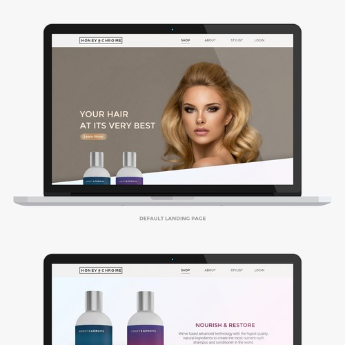 Beauty product website with the title 'Beauty Product web page design'