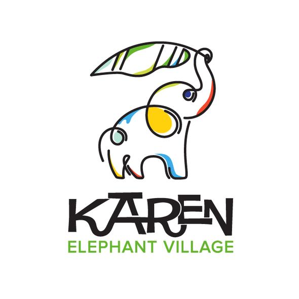 Elephant design with the title 'elephant logo'