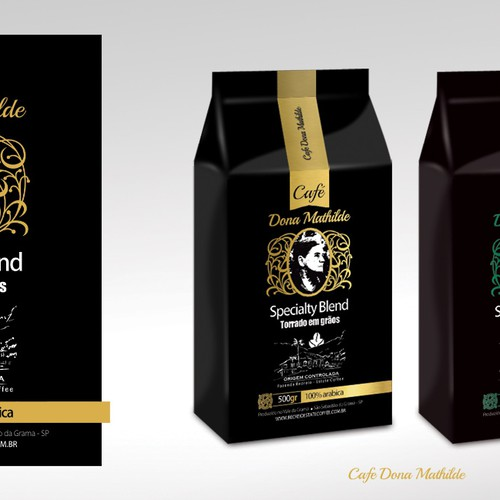Farm label with the title 'Create a Fantastic Coffee Label For 'Café Dona Mathilde'!'