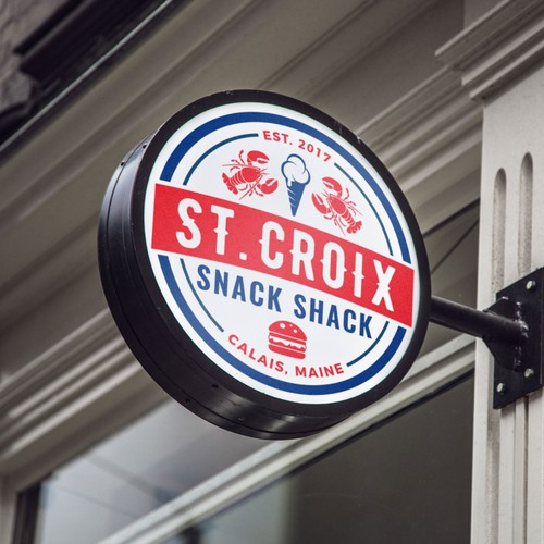 Snack logo with the title 'Circle Logo for St. Croix Snack Shack.'