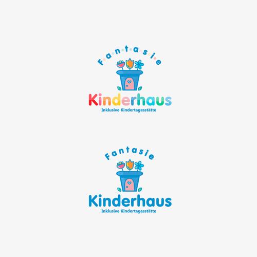 Kindergarten logo with the title 'Kindergarten logo'