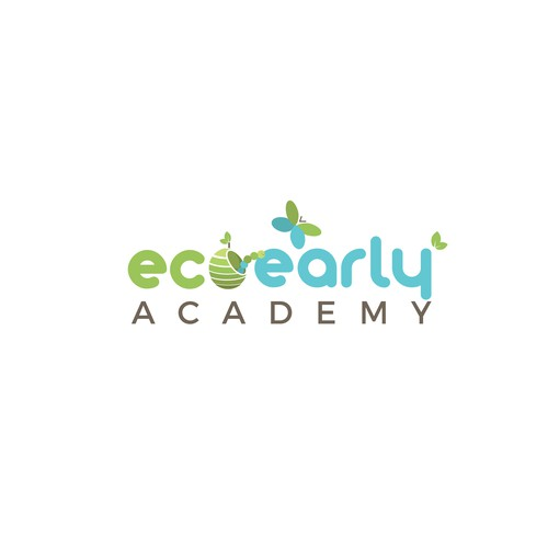 Academy logo with the title 'Beautiful and smart logo for the organic, natural childcare center.'