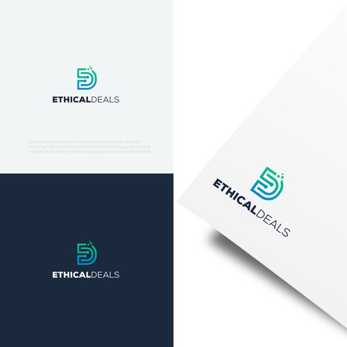 Deal design with the title 'ethical deals logo'