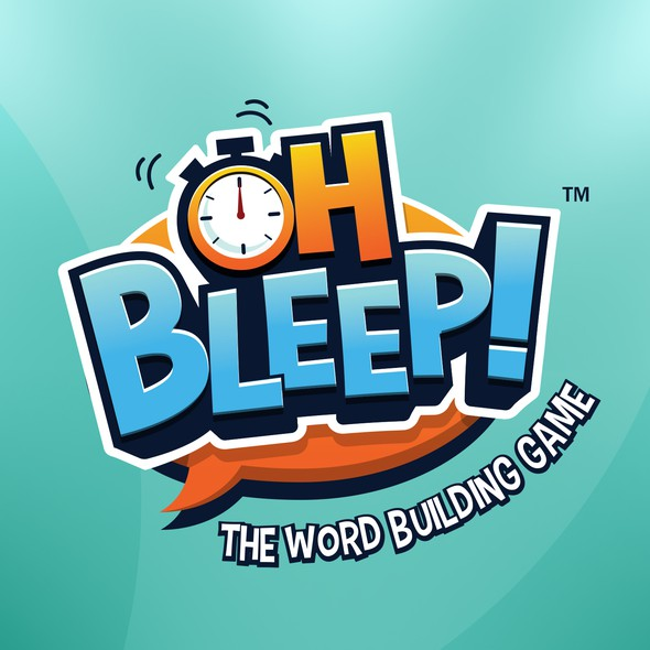 Board game design with the title 'Oh Bleep Board Game '