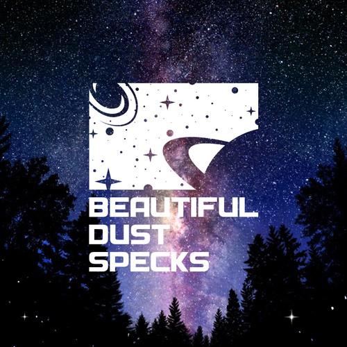 "Universe logo with the title 'Create artwork & logo for the new ""Beautfiul Dust Specks"" science and motivation podcast'"