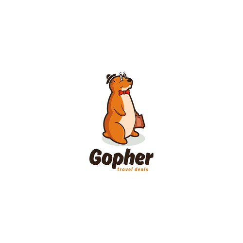 Bow tie logo with the title 'Gopher travel deals'