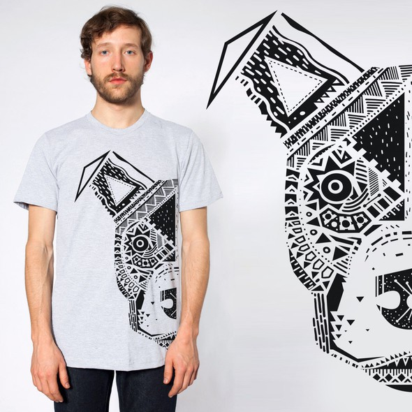 Black and white t-shirt with the title 'American Staffordshire Terrier Tshirt Illustration'