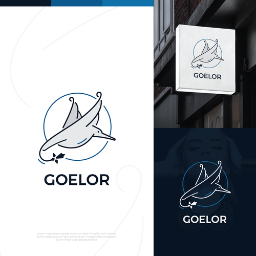 Flying bird design with the title 'Goelor Logo'