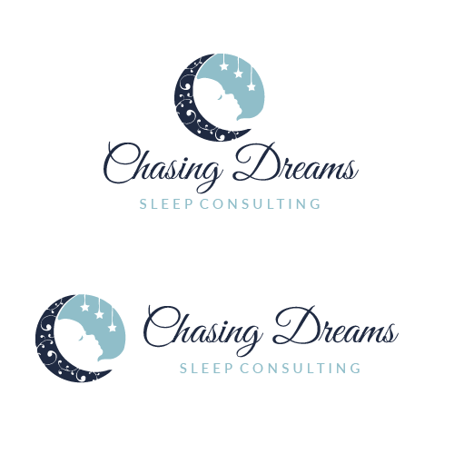 Sleep logo with the title 'Chasing Dreams Sleep Consulting'