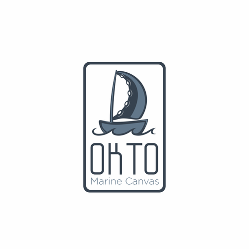Canvas design with the title 'Create a brand identifying logo for OKTO Canvas'