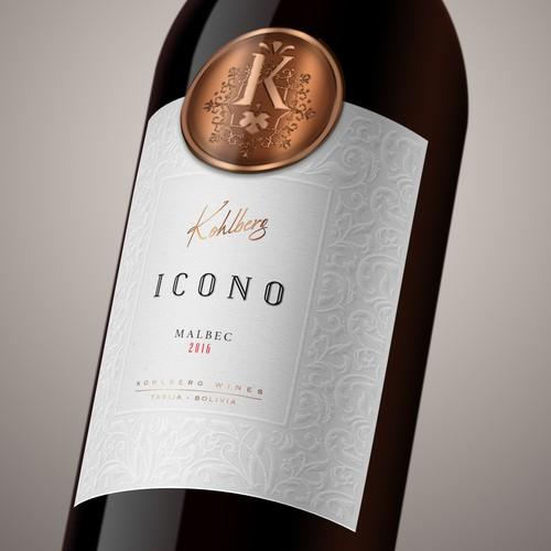 Minimalist label with the title 'Premium Wine Label'