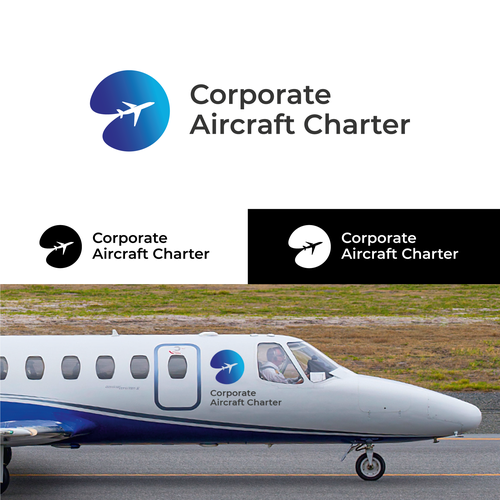 Aircraft logo with the title 'Logo for an Aircraft Charter Company'