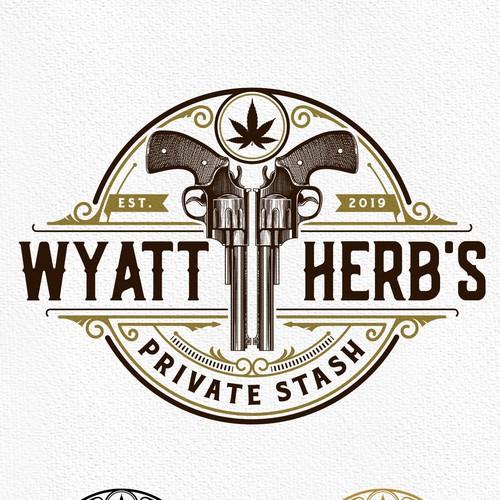 Hemp logo with the title 'Wyatt Herb's'