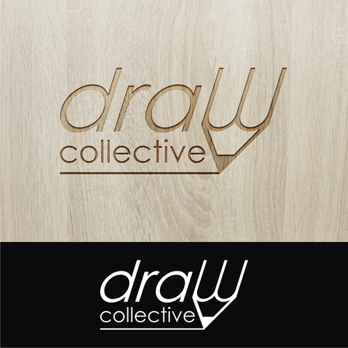 Chair logo with the title 'draw collective'