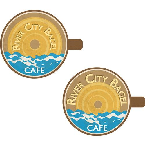 Bagel logo with the title 'River City Bagel Café'
