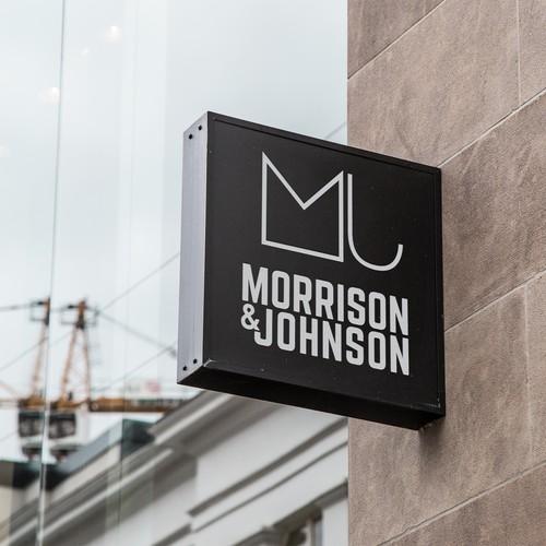 Log design with the title 'Morrison & Johnson Real Estate Logo'