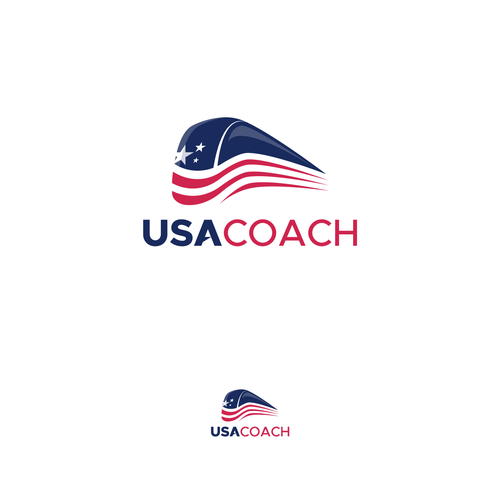 Bus design with the title 'Logo for USA COACH'