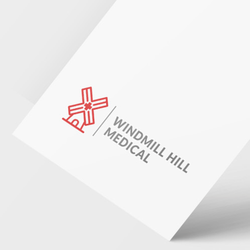 Windmill logo with the title 'Medical logo'